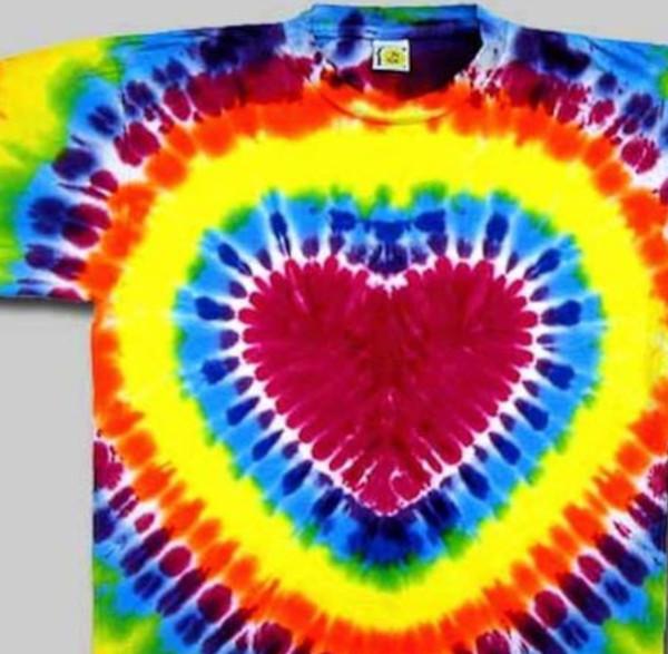 Short Sleeve heart tie Dye